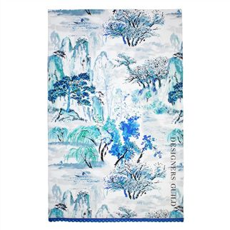 Jade Temple Cornflower Tea Towel 74x48xcm