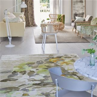 Saraille Linen Neutral Ombre Rug | Designers Guild