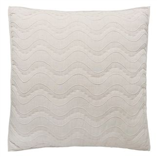 Aurelia Natural Square Quilted Decorative Pillow