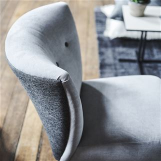 Bury Charcoal Fabric | Designers Guild Essentials