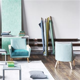 Tammaro Emerald Fabric | Designers Guild Essentials