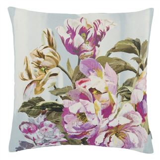 Delft Flower Sky Decorative Pillow