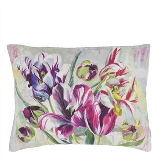 Tulipa Stellata Fuchsia Decorative Pillow