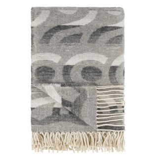 Latticino Graphite Throw