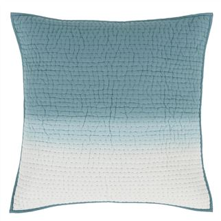 Saraille Celadon Quilted Large Decorative Pillow