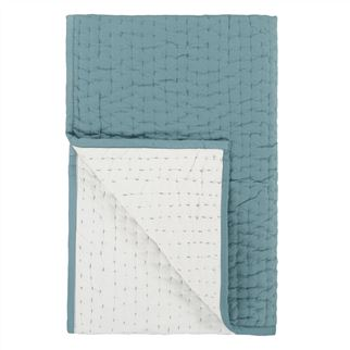 saraille celadon quilted throw 150x200cm