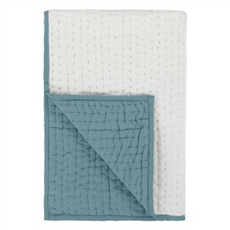 Saraille Celadon Quilted Throw 150x200cm - Reverse