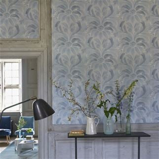 Angelique Damask Jade Wallpaper | Designers Guild