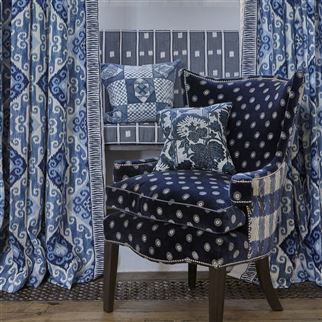 Hadrian Midnight Fabric | William Yeoward