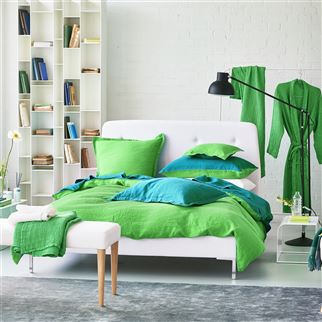 Moselle Emerald Towels | Designers Guild