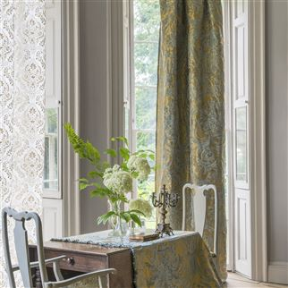 Alexandrina Silver Fabric | Royal Collection