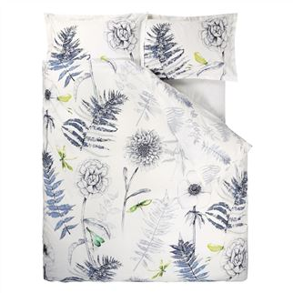 Acanthus Indigo Superking Duvet Cover
