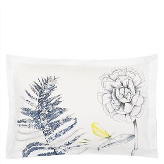 Acanthus Indigo Oxford Pillowcase