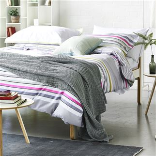 Alba Pale Grey Throw | Designers Guild