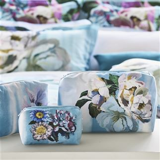 Delft Flower Sky Toiletry Bag | Designers Guild