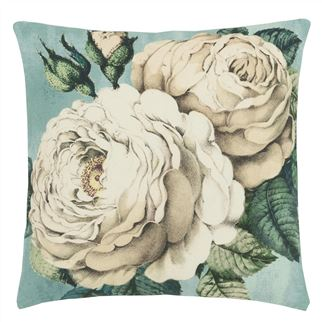 The Rose Swedish Blue Decorative Pillow