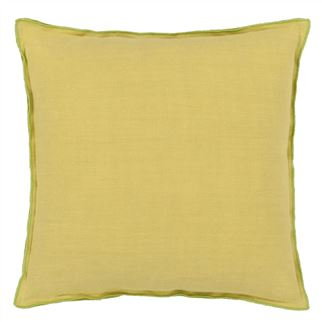 Brera Lino Lime Cushion  - Reverse