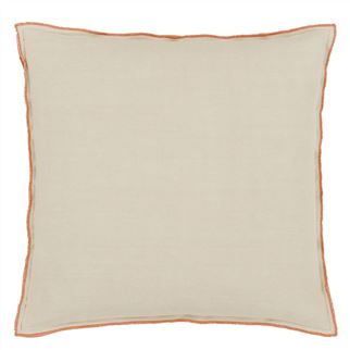 Brera Lino Cinnamon Cushion - Reverse