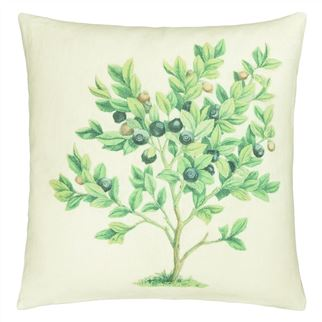 The Bouquet Parchment Cushion  - Reverse