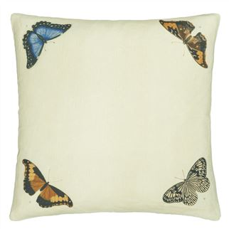 Mirrored Butterflies Parchment Cushion - Reverse