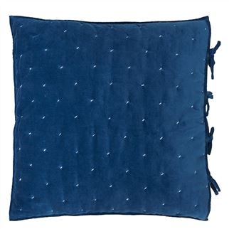 Sevanti Indigo Square Quilted Decorative Pillow
