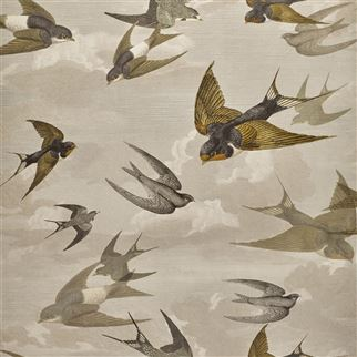 Chimney Swallows Sepia