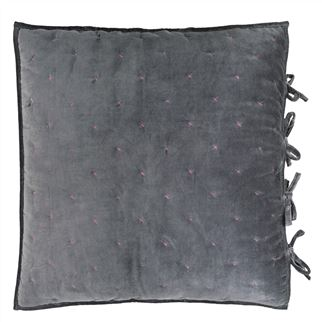 Sevanti Graphite Quilted Square Decorative Pillow