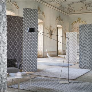 Jourdain Steel Wallpaper | Designers Guild