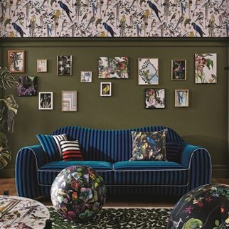 Birds Sinfonia Crepuscule Fabric | Christian Lacroix