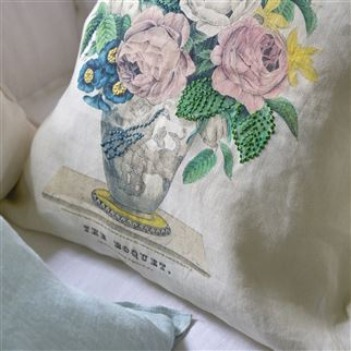 The Bouquet Parchment Decorative Pillow | John Derian