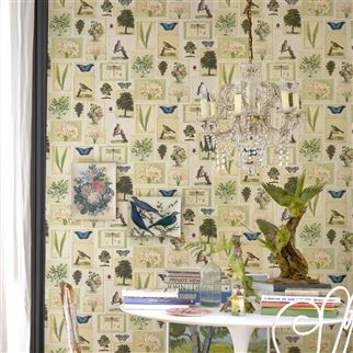Flora And Fauna Parchment Wallpaper | John Derian