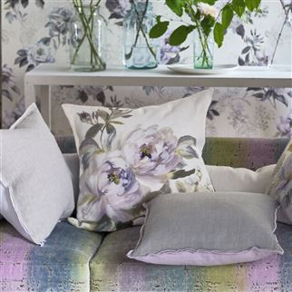 Victorine Ombre Purple Viola Linen Cushion | Designers Guild
