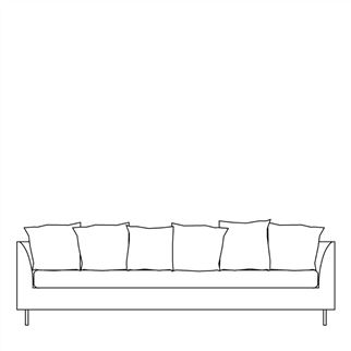 Sleek Sofa With Square Cushions