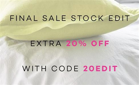FINAL SALE STOCK EDIT - EXTRA 20% OFF