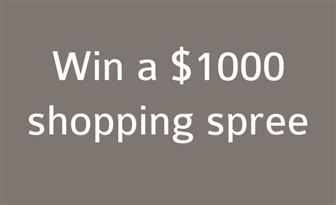 WIN A $1,000 ONLINE SHOPPING SPREE