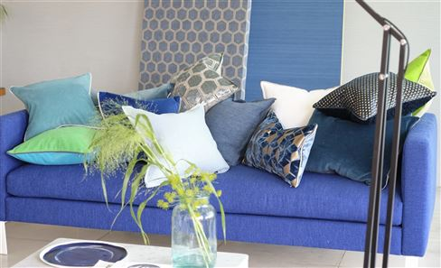 BLUE & GREEN DECORATIVE PILLOWS