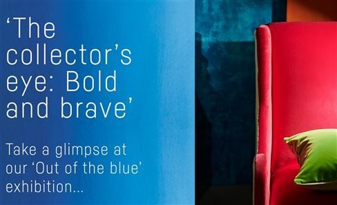 Out of the blue exhibition series | Bold & brave