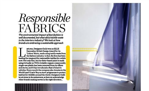 DG Eco policy in ELLE Decoration