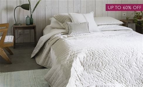 SALE WHITE COLLECTION THROWS & QUILTS