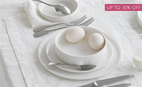 SALE WHITE TABLEWARE & TABLE LINEN