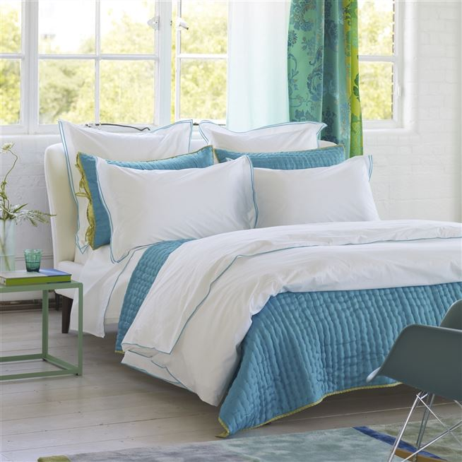 Astor Jade Bedding | Designers Guild