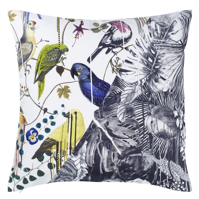 Jungle Birds Perce-Neige Cushion