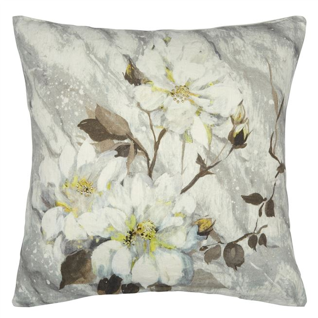 Carrara Fiore Platinum Cushion