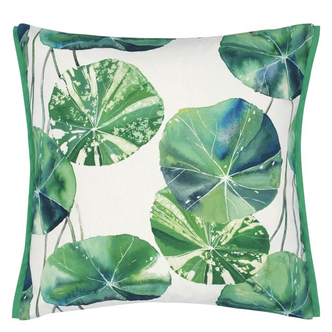 Brahmi Outdoor Leaf Cushion