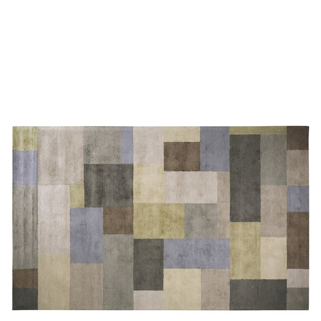 Barchessa Slate Geometric Neutral Rug Designers Guild