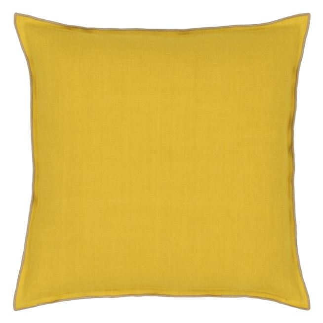 Brera Lino Ochre & Pebble Cushion