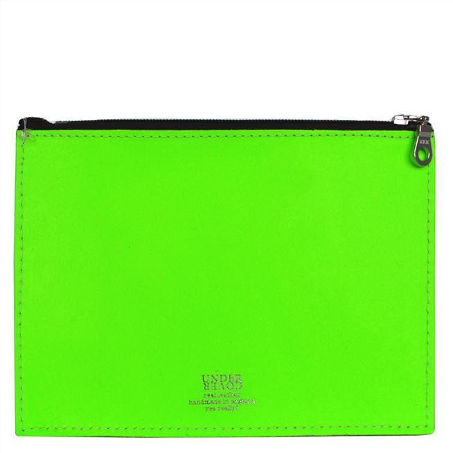 Fluoro Green Large Leather Wallet