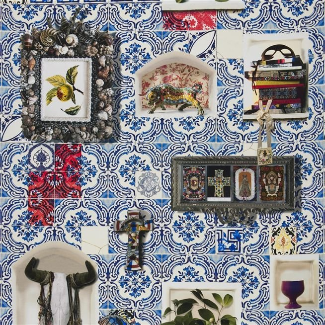 Patio Cobalt Fabric Christian Lacroix