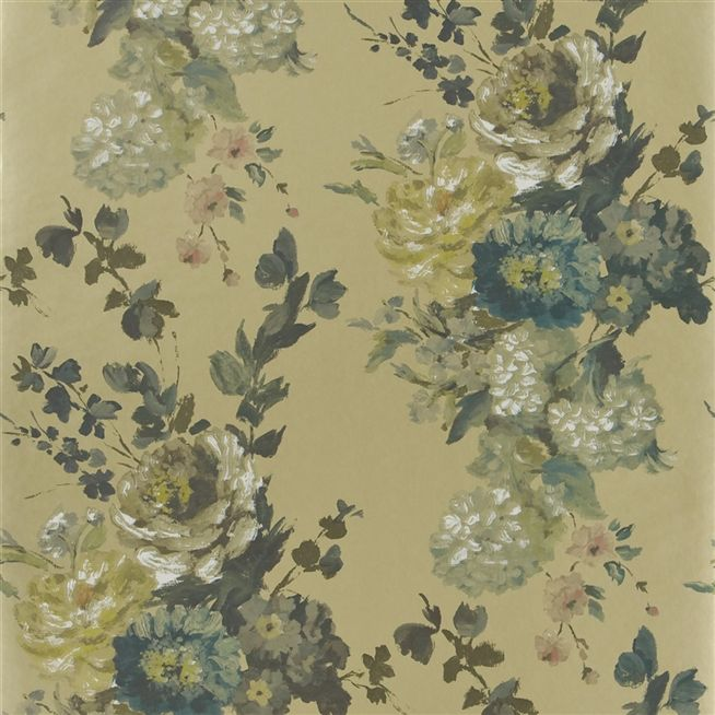seraphina gold wallpaper Designers Guild