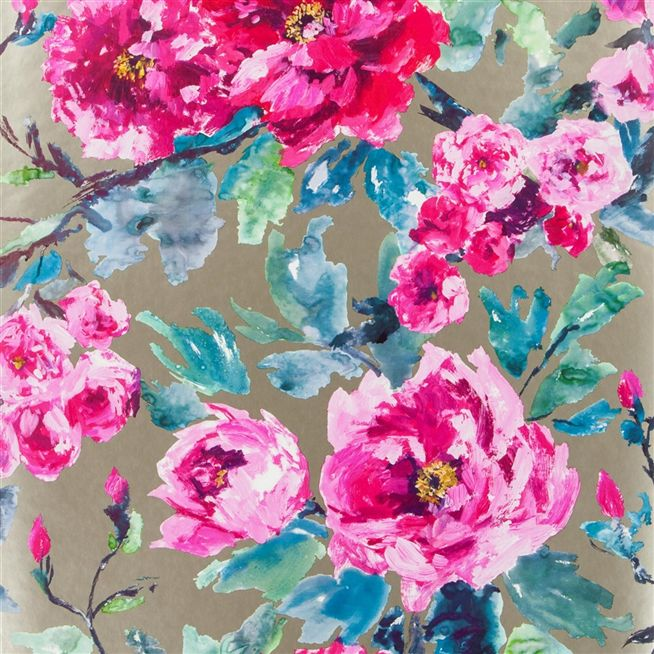 Wall Paper Designers cozy 5 wall paper designers on wallpaper designs for walls home design ideas interior design Shanghai Garden Fuchsia Wallpaper